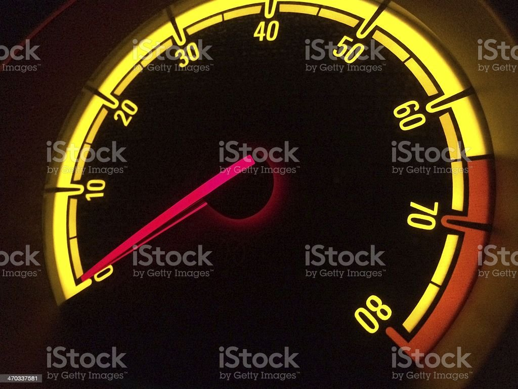 Acceleration Dashboard stock photo