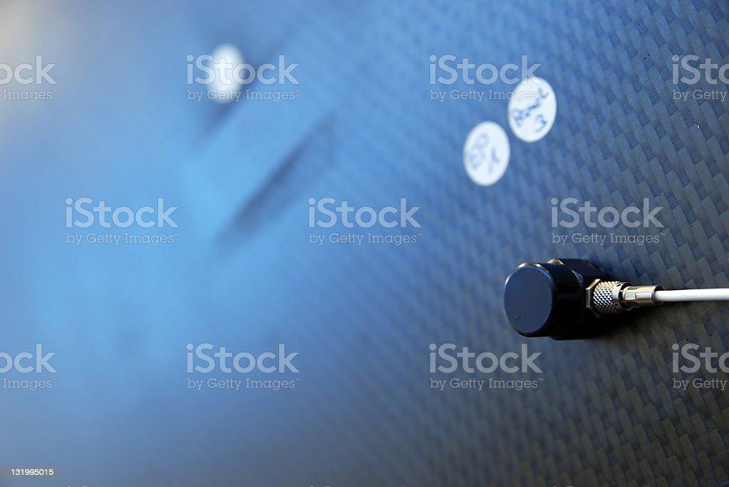 Accelerometer transducer stock photo