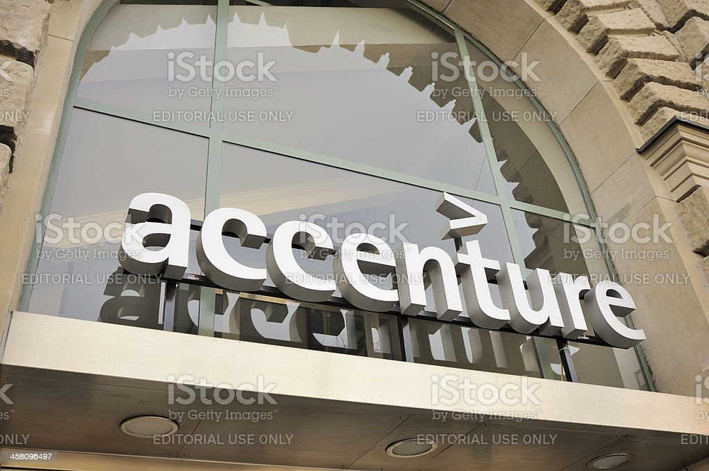 Accenture Sign stock photo