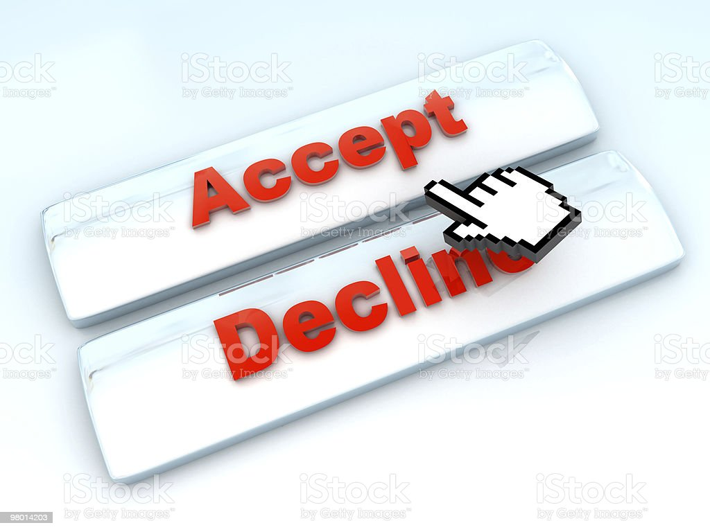 Accept Or Decline (XL) royalty-free stock photo