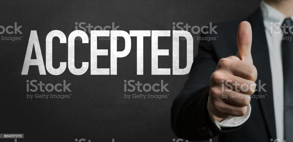Accepted stock photo