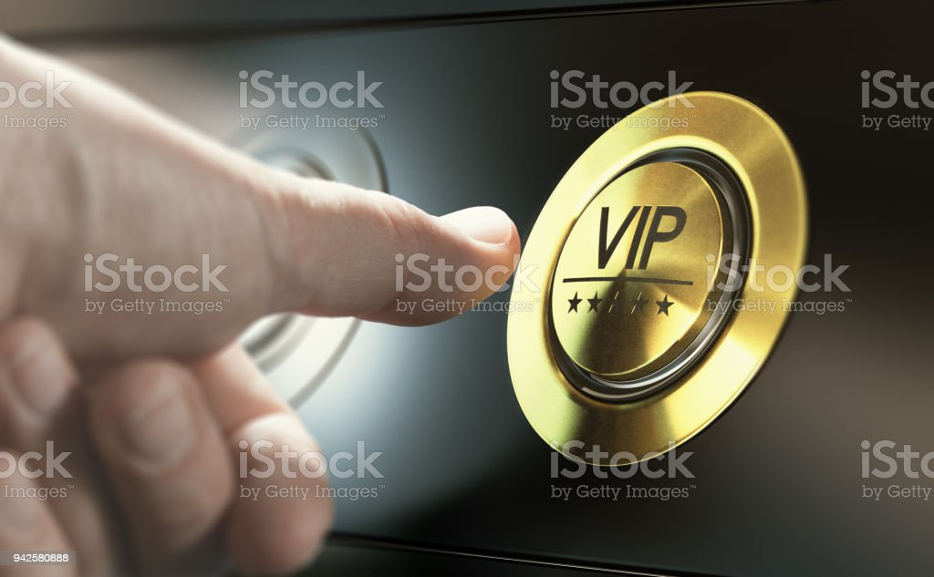 VIP Access. Asking for Premium Services stock photo