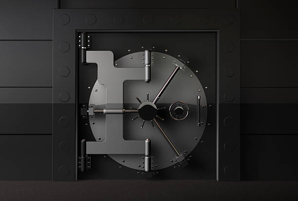 access bank door Closed vaulted door safes and vaults stock pictures, royalty-free photos & images
