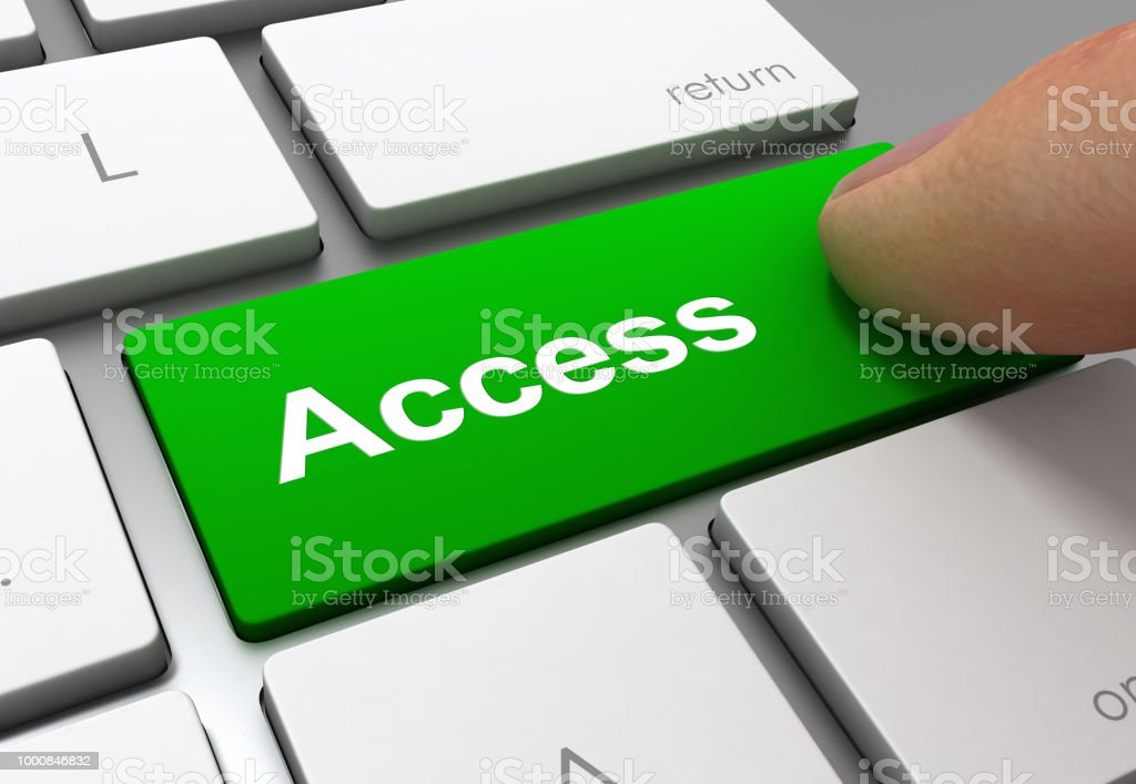 access button concept 3d illustration stock photo