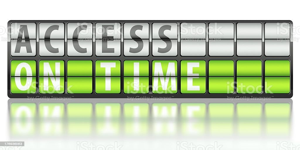 Access concept, on time royalty-free stock photo