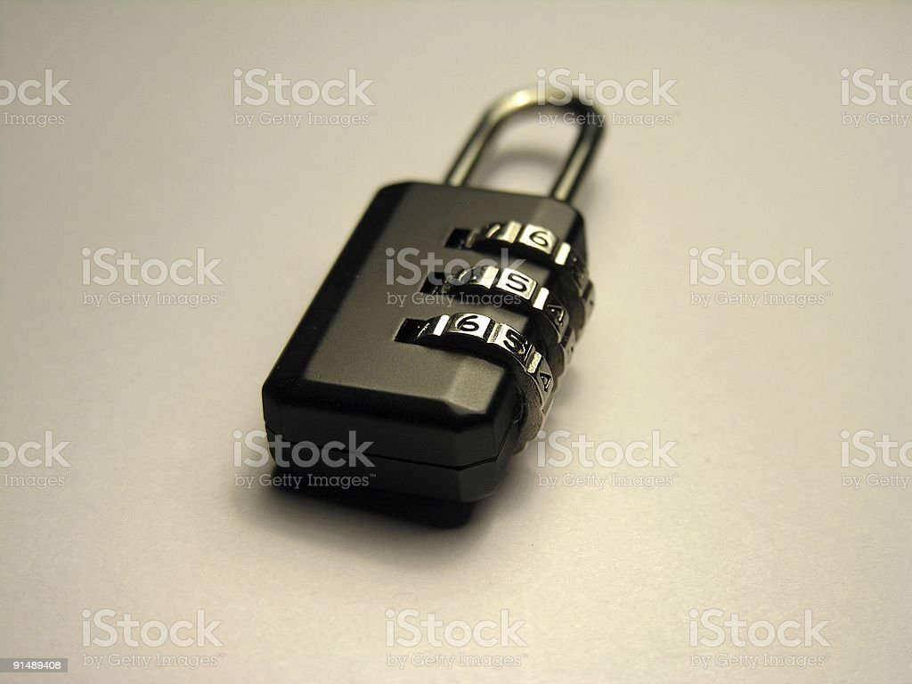 access denied: padlock with cipher royalty-free stock photo