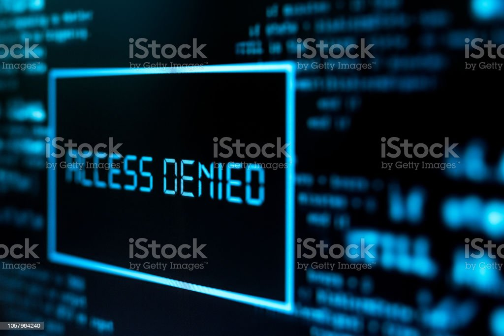 Access denied stock photo