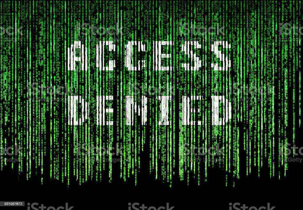 Access denied stock photo