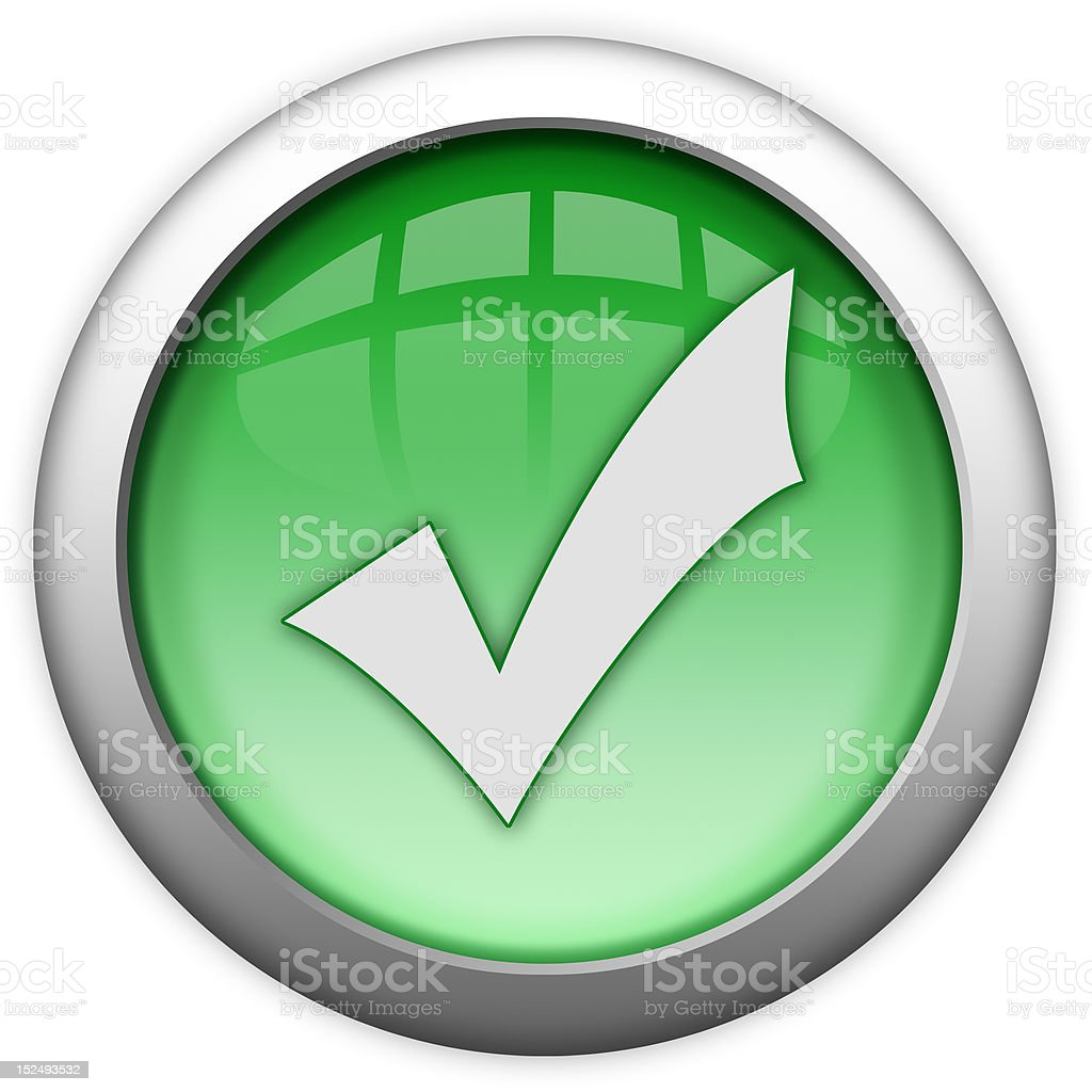 Access granted button royalty-free stock photo