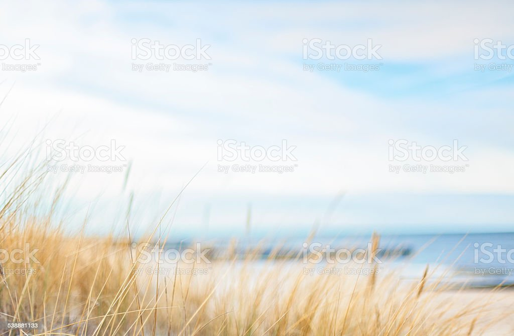 Access to a quiet beach stock photo