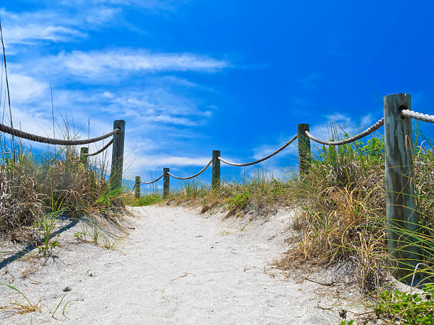 Access to public beach near Sarasota, Florida