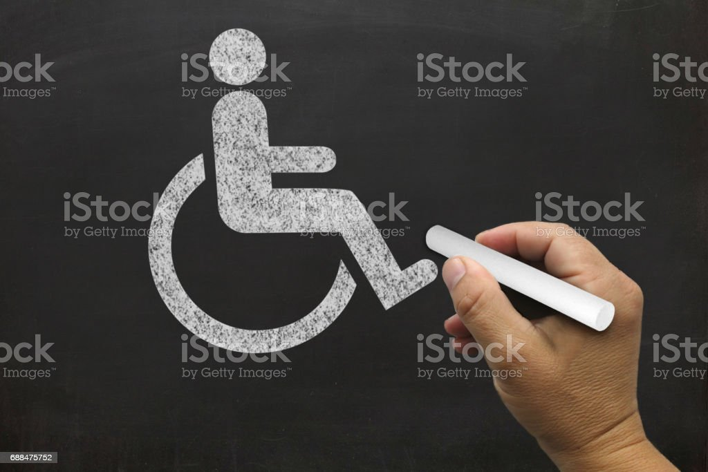 Accessibility blackboard drawing stock photo