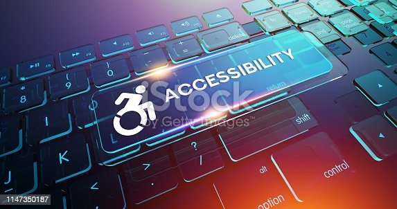 istock Accessibility Button on Computer Keyboard 1147350187