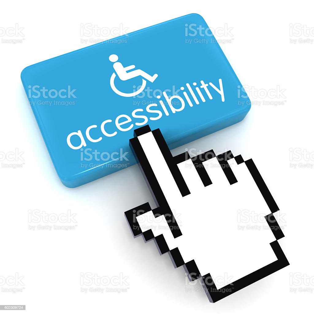 Accessibility computer icon button concept stock photo