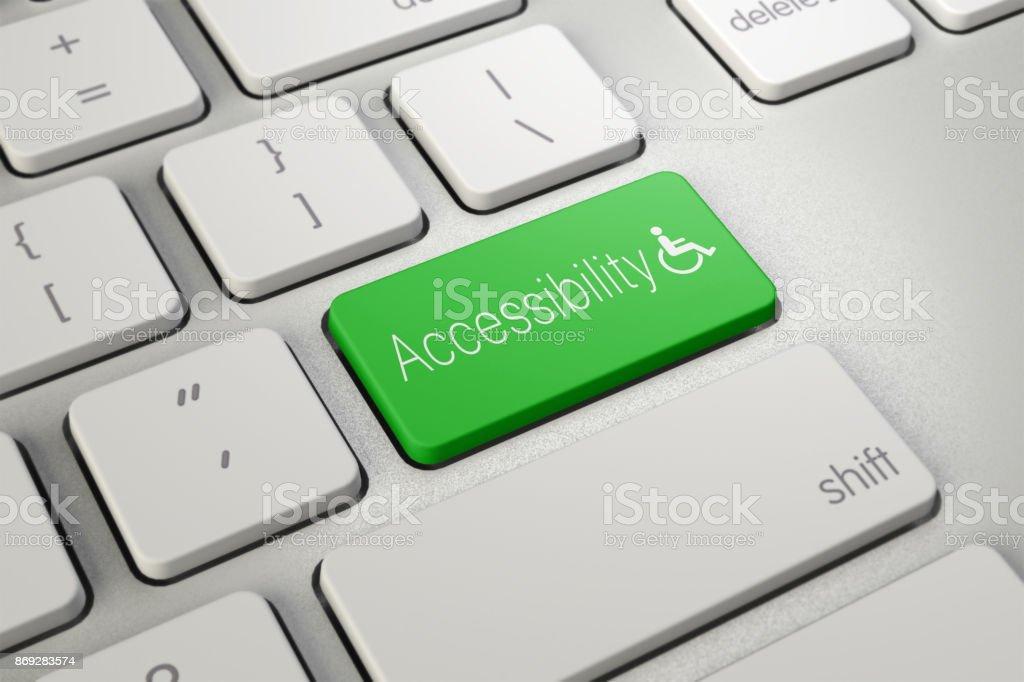 Icono De La Pc De Accesibilidad De Teclado Foto de stock y