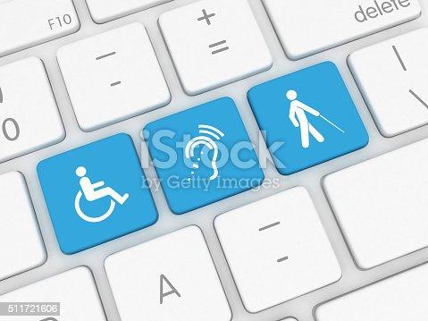 istock Accessibility computer icon 511721606