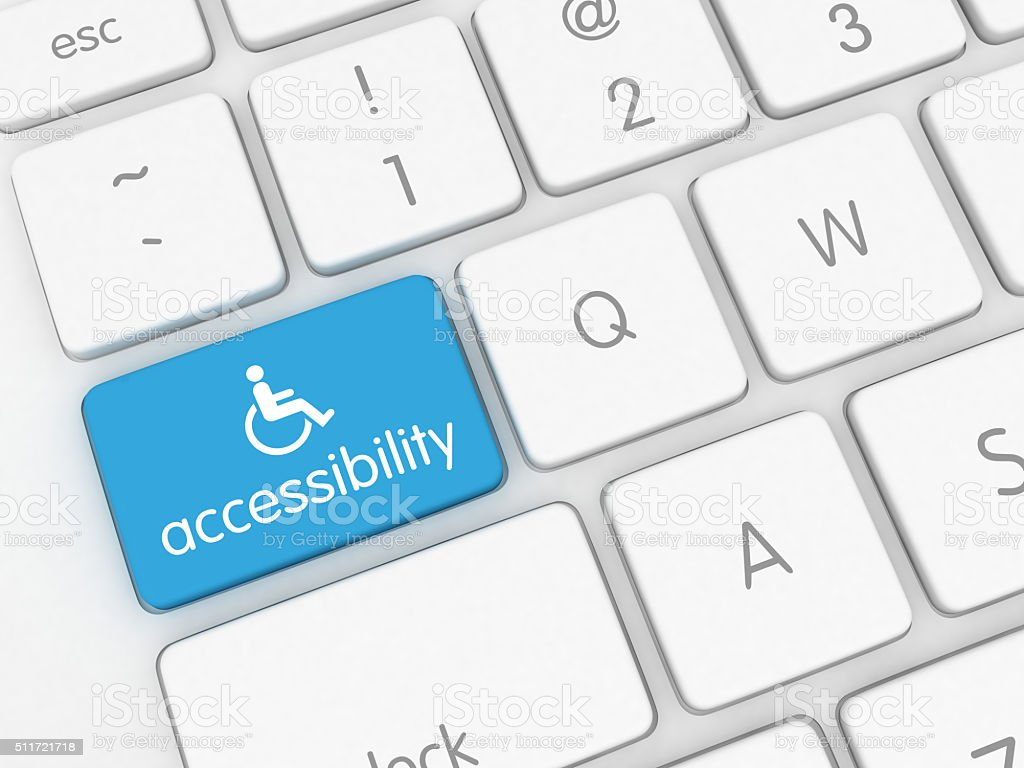 Accessibility computer icon royalty-free stock photo