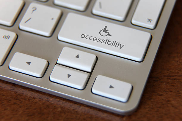 Accessibility computer icon stock photo