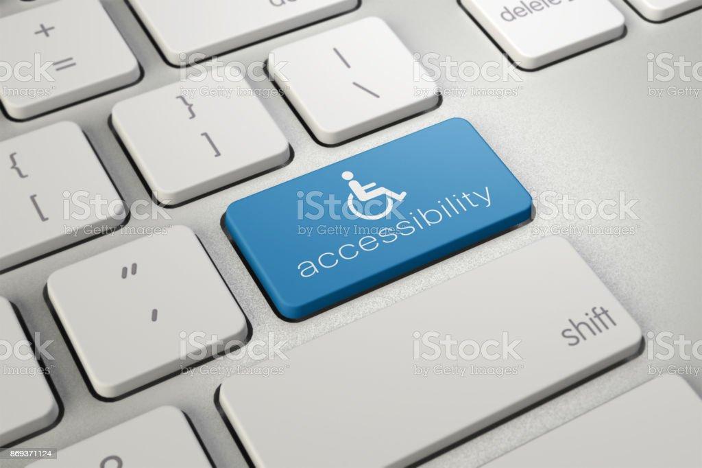 Barrierefreiheit Computer Symbol – Foto