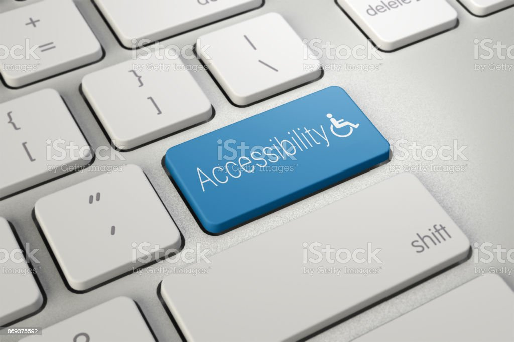 Accessibility  computer keyboard key stock photo