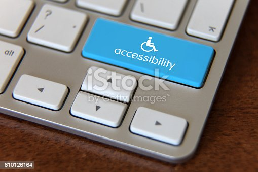 istock Accessibility disability computer icon 610126164