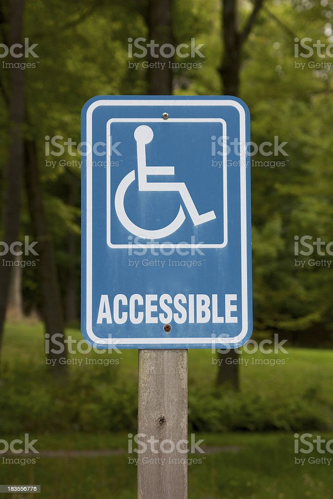 Accessible Disabled Parking Sign royalty-free stock photo