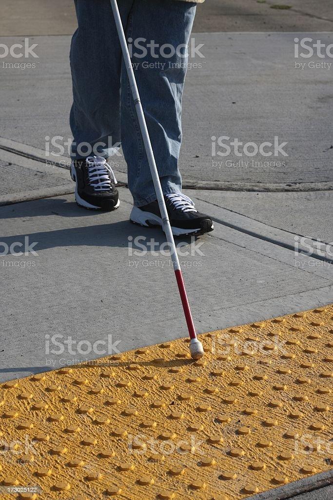 Accessible Sidewalk Edge royalty-free stock photo