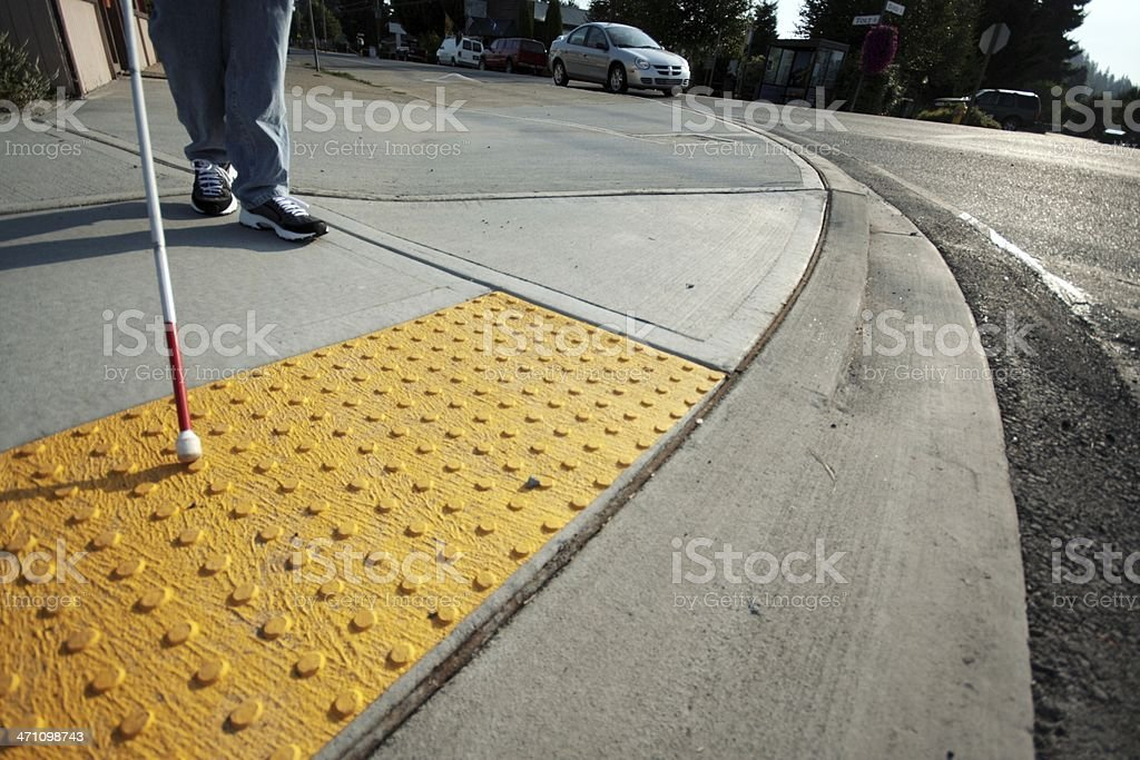 Accessible Sidewalk Edge stock photo