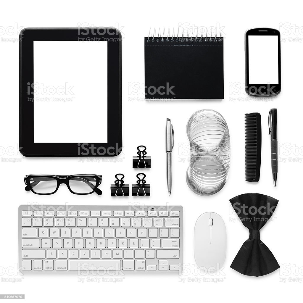 Accessories at Work stock photo