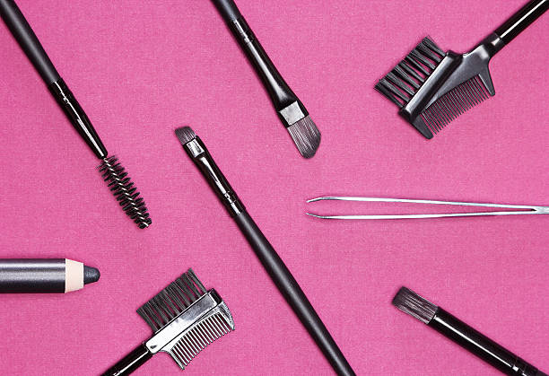 Accessories for care of the eyebrows stock photo