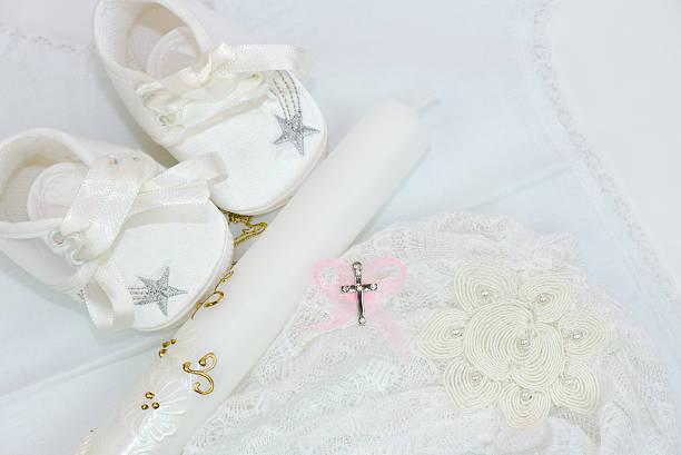 accessoires für taufe - sterntaufe stock-fotos und bilder