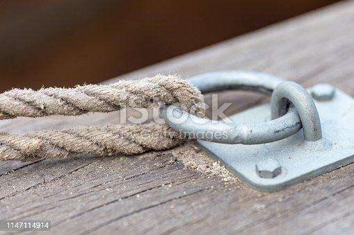 Toebehoren voor pleziervaart, een ring voor ligplaats