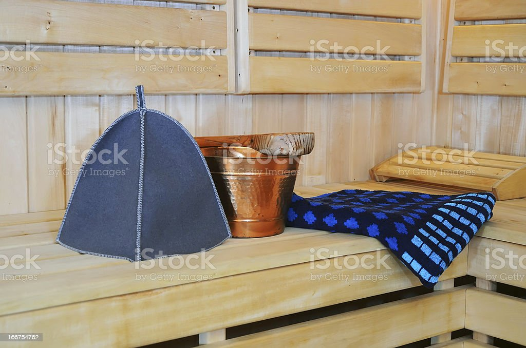 accessories for sauna royalty-free stock photo