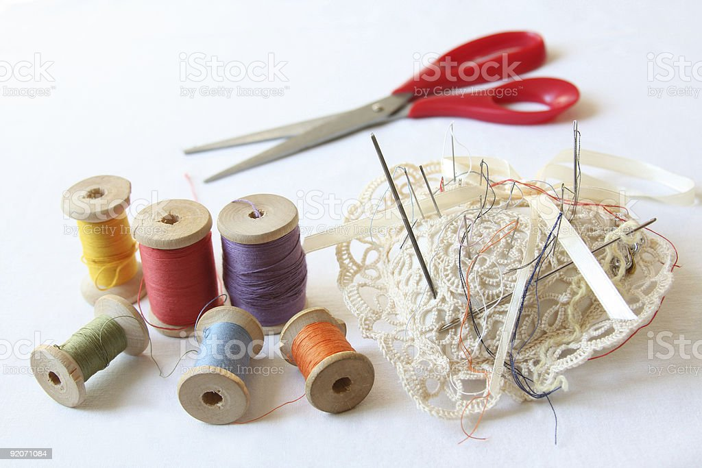 Accessories for sewing royalty-free stock photo