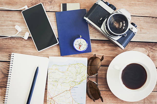 accessoires für reise - schönste reiseziele der welt stock-fotos und bilder