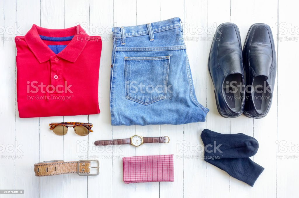 Accessories man clothes - foto stock