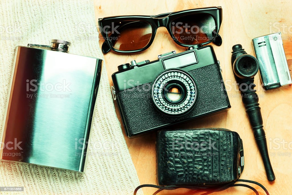 Accessories of the creative person. stock photo
