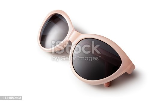 Accessories: Sunglasses Isolated on White Background