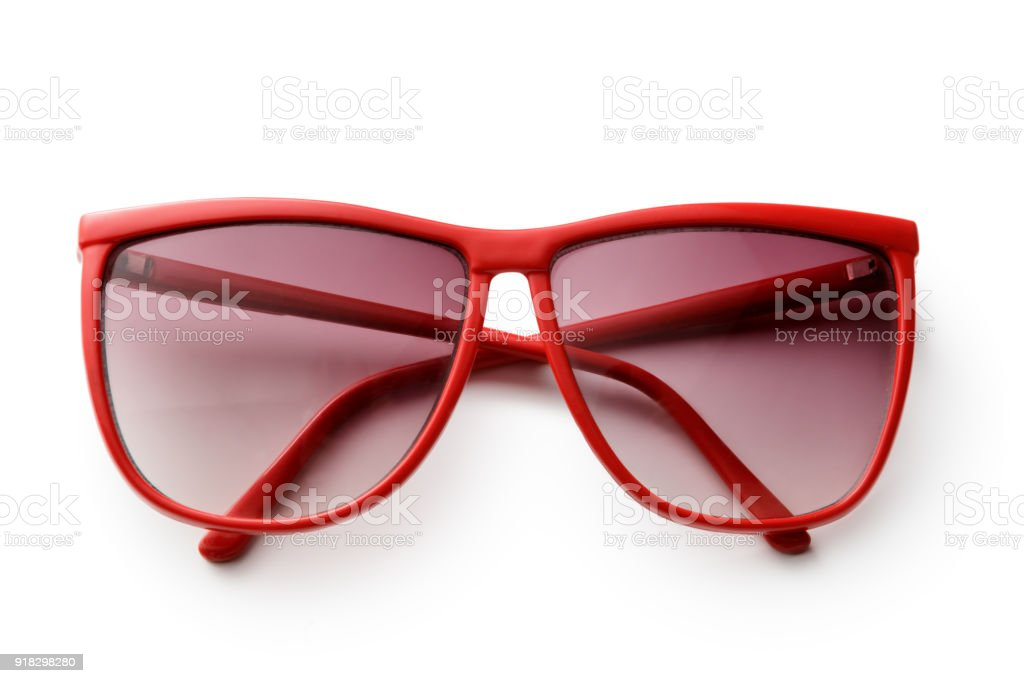 Accessories: Sunglasses Isolated on White Background stock photo