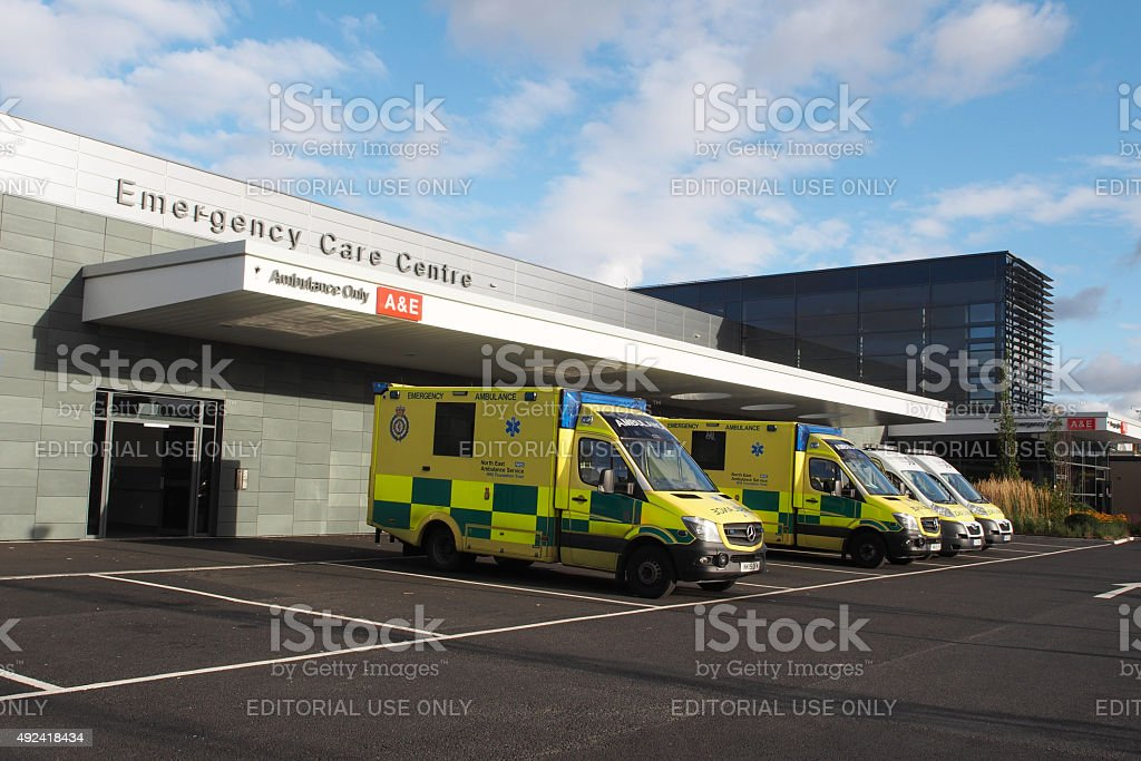 Accident and Emergency Centre at a Hospital stock photo