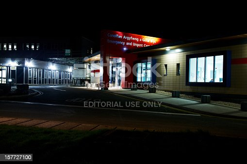 istock UK Accident and Emergency centre at night. 157727100