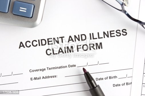 istock Accident and illness claim form 175387839