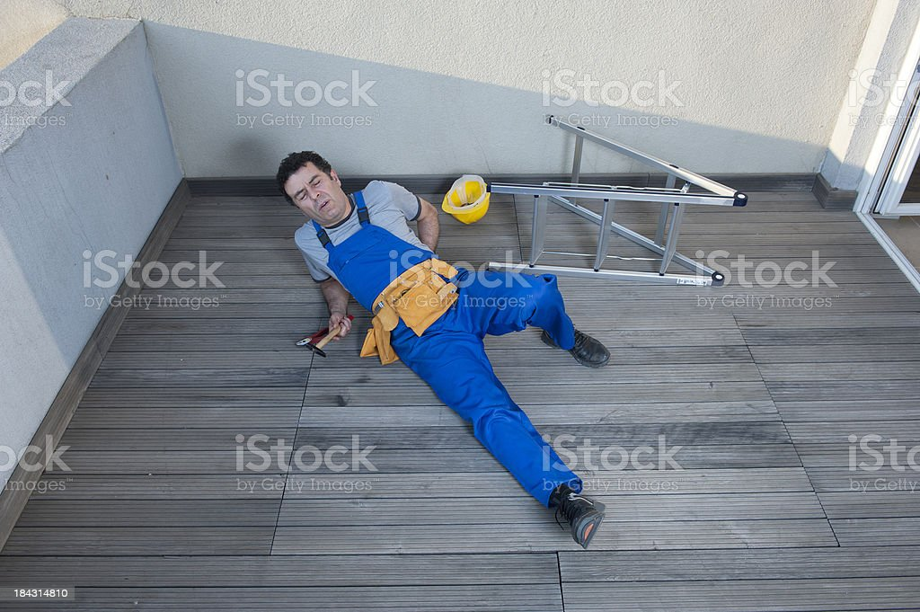 Accident at work royalty-free stock photo