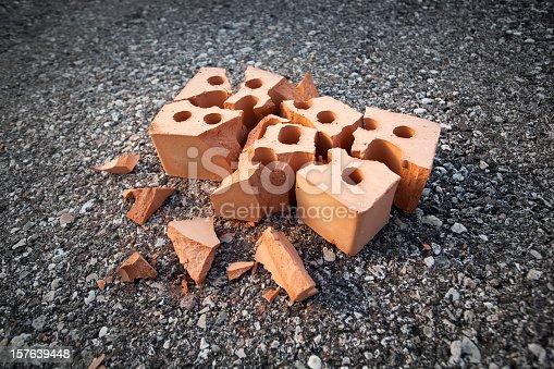 Broken brick.