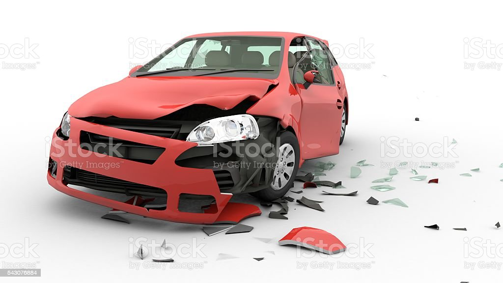 Accident car stock photo