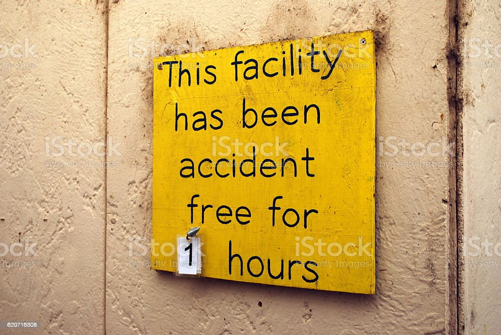 Accident Free Sign stock photo