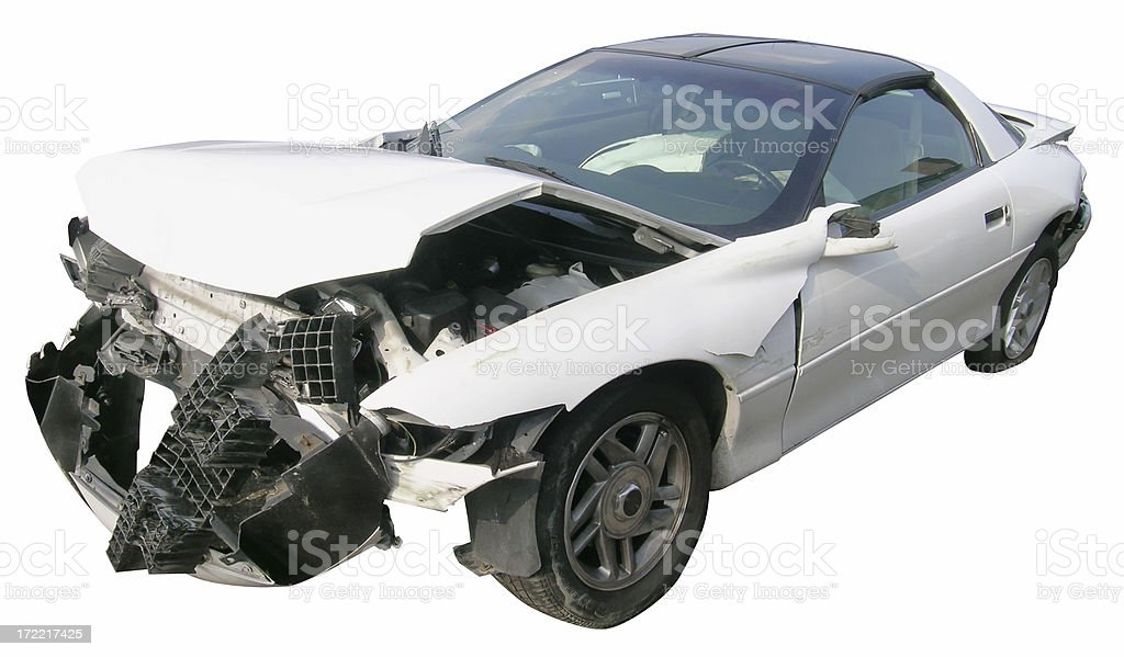 Accident - front-end royalty-free stock photo