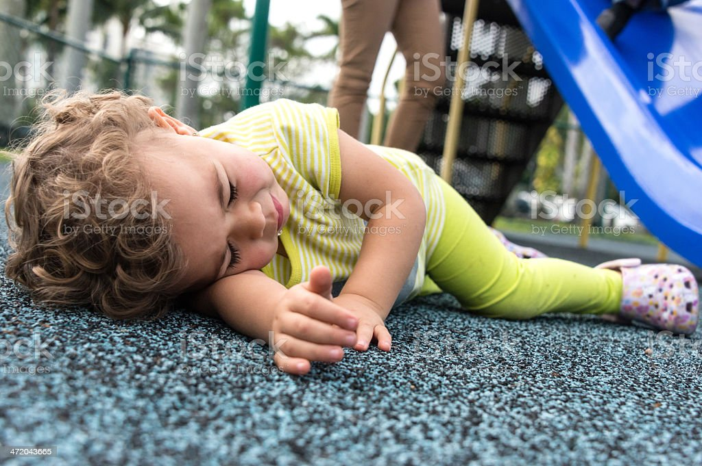 Unfall in dem Spielplatz – Foto