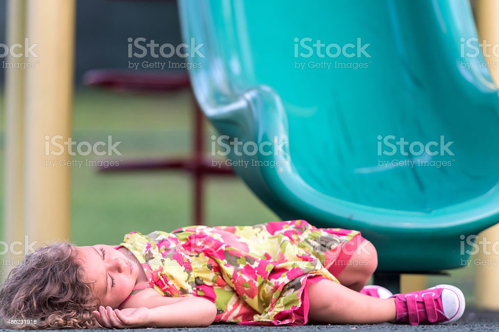 accident in the playground stock photo