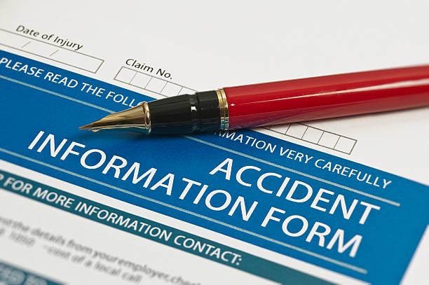 incidente informazioni modulo - soddisfazione foto e immagini stock